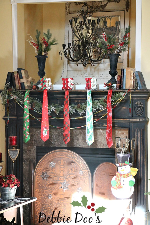 Christmas Mantel Decorating Ideas From The Dollar Tree And