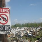 illegal dumping indianapolis sign